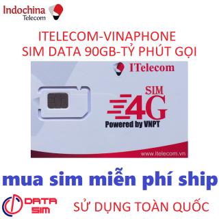 Sim 4G 90GB itelecom gọi vinaphone miễn phí thumbnail