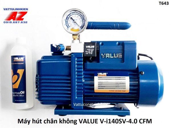 Bảng giá Máy hút chân không VALUE công suất 3.5CFM Model V-i140SV có đồng hồ hiển thị áp