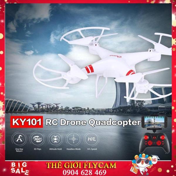 [ FLASH SALE ] BỘ ĐỦ CAMERA -Máy bay flycam KY101 máy ảnh camera 2.0Mpa. HD 720P truyền trực tiếp về điện thoại, Có chế độ tự về bằng 1 nút bấm trên tay điều khiển. Máy bay chụp ảnh, Flycam giá rẻ