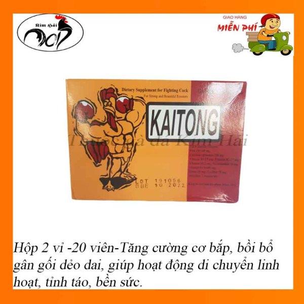 Kaitong-Sâm Thái lan[hộp 2 vỉ 20 viên]-Dinh dưỡng cần thiết cho chiến kê 2 tuần trước trận đấu-thuốc gà đá Thái Lan hiệu quả.