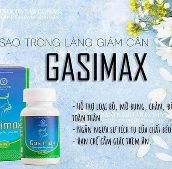 VIÊN UỐNG GIẢM CÂN, ĐẸP DÁNG GASIMAX giá rẻ