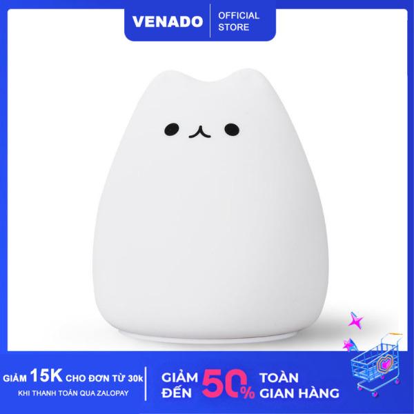 Đèn ngủ Silicone để bàn cảm biến đổi màu hình Mèo cute Mèo buồn Mèo nghiêm túc cực Hot - Venado