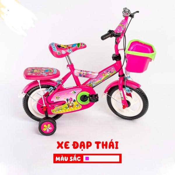Mua Xe đạp cho bé gái 2 bánh hồng Thái ( có 2 bánh phụ) từ 3-5 tuổi