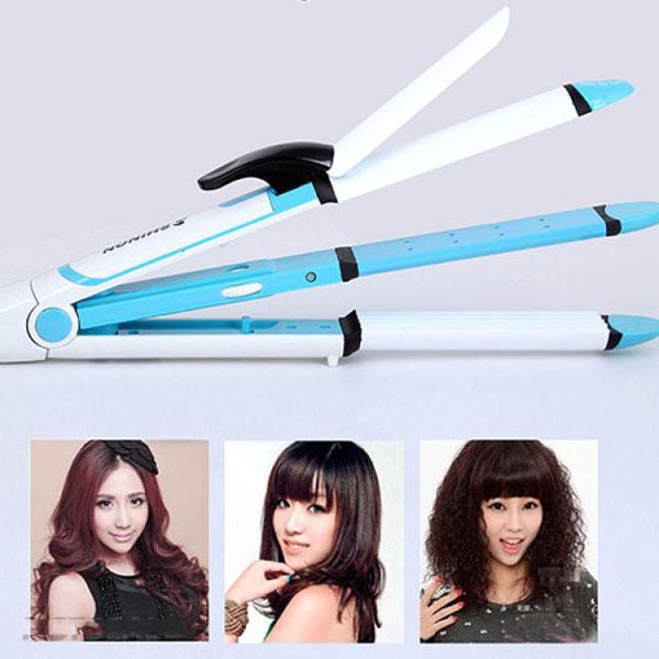 Máy duỗi tóc, uốn tóc, bấm phồng tạo kiểu tóc đa năng 4 trong 1 Shinon 8005 nhập khẩu