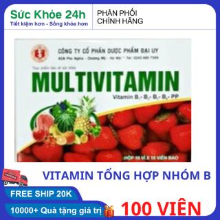 Tăng cường sức khỏe vitamin tổng hợp Multivitamin 100 viên HSD 2023 bồi bổ cơ thể, tăng cường sức đề kháng, giảm mệt mỏi suy nhược thumbnail