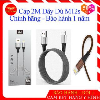 [Sạc Nhanh] Cáp sạc M12s dây dù 2 Mét - 2M Chính hãng SD Design bảo hành 1 năm 1 đổi 1 - Dây sạc chân Lightning Iphone, Micro Usb, Type C cho nhiều dòng máy, day xạc, cap sạt dài, chống đứt thumbnail