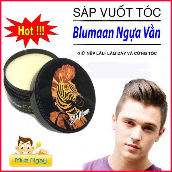 Sáp vuốt tóc nam Blumaan Cavalier Heavy Clay(ngựa vằn) /wax vuốt tóc/ keo vuốt tóc/ sáp vuốt tóc giá rẻ