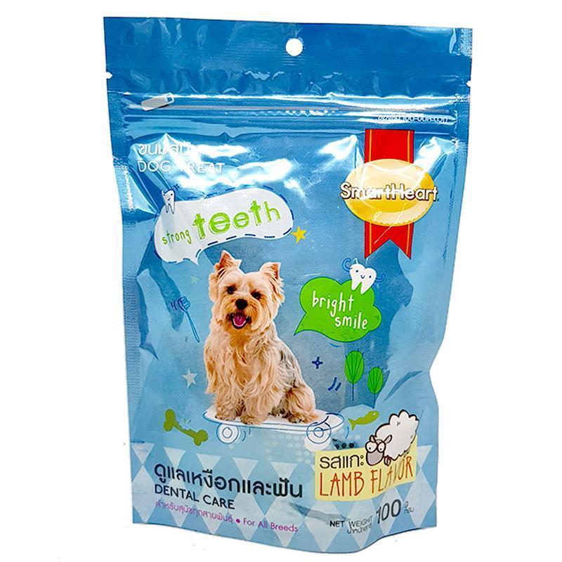 Bánh thưởng cho chó giúp răng chắc khỏe Smartheart Dental Care 100g