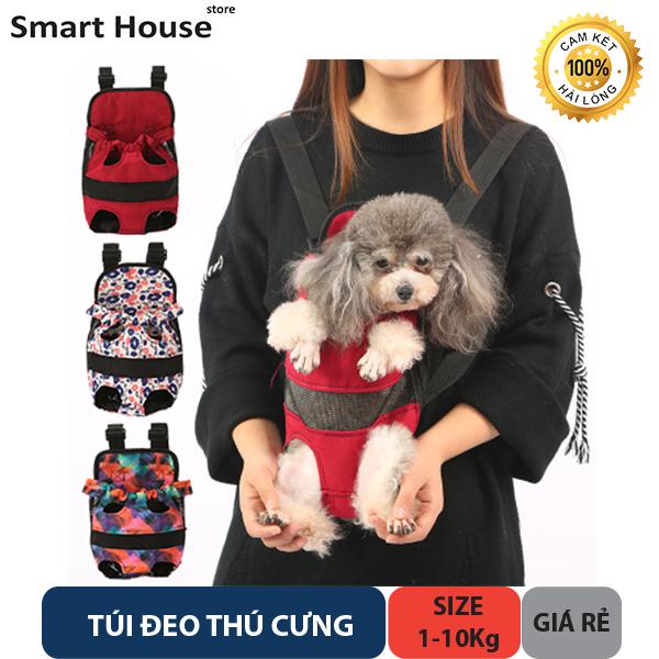 Túi Đeo Thú Cưng - Địu Chó Mèo - Size từ 1-10kg - Phụ Kiện Thú Cưng Giá Rẻ