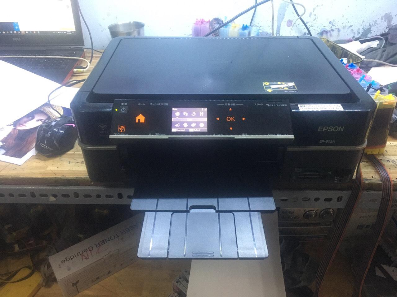 Máy in Epson 803a - Gắn hệ thống mực dầu pigment Uv in ảnh không phai