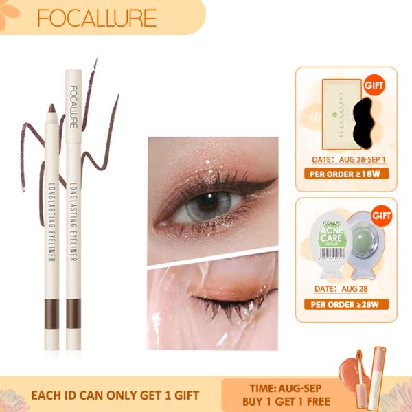FOCALLURE Bút kẻ mắt dạng gel lâu trôi, không thấm nước, dễ trang điểm, màu đen - INTL nhập khẩu
