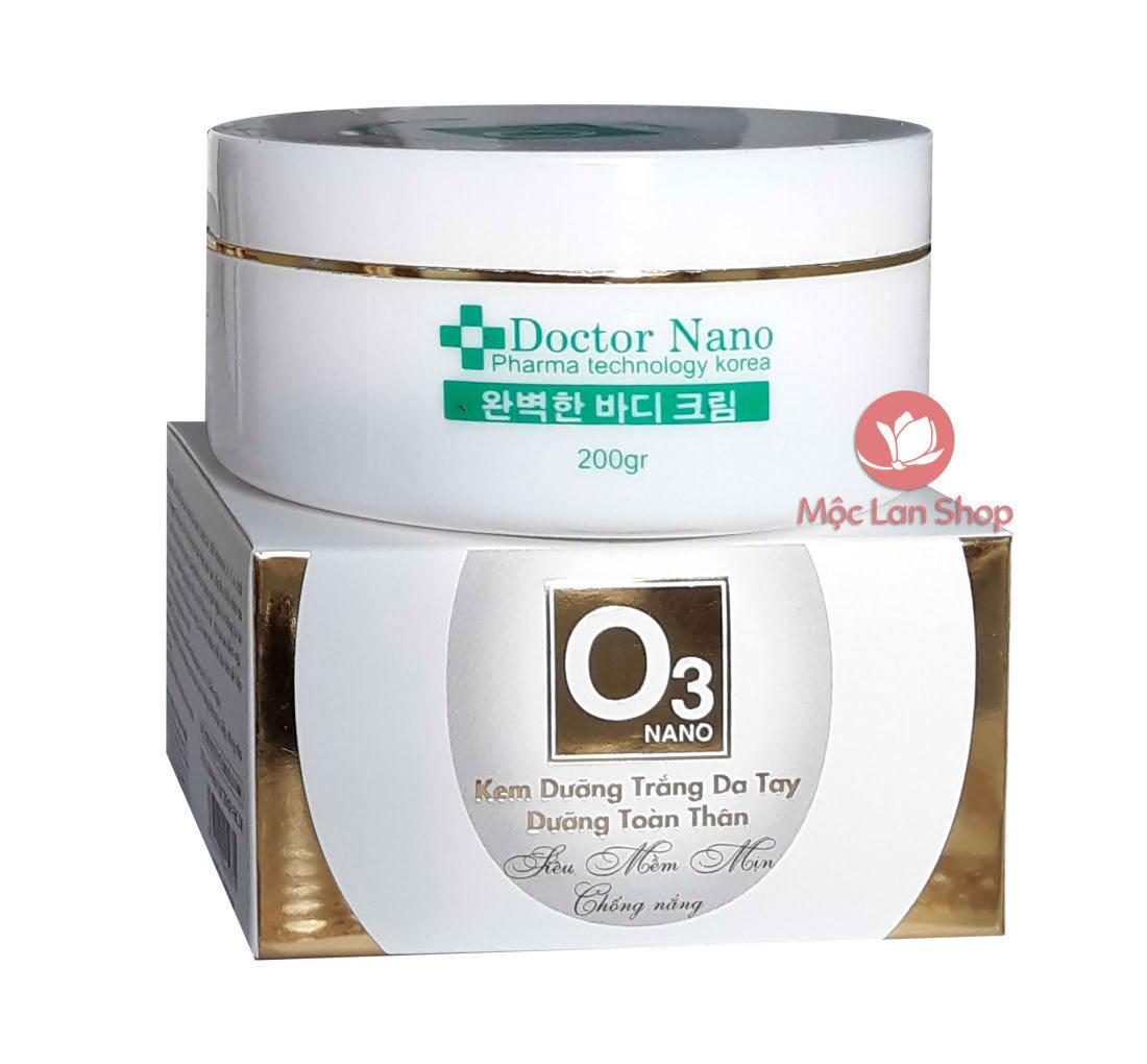 Kem dưỡng trắng da tay, dưỡng toàn thân_Nano O3 (200gr)