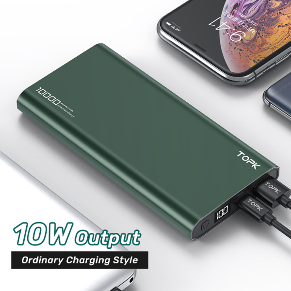 Giá TOPK I1006P 10000mAh Pin dự phòng Sạc nhanh Hiển thị kỹ thuật số Pin dự phòng cho iPhone HUAWEI Samsung Xiaomi OPPO vivo realme