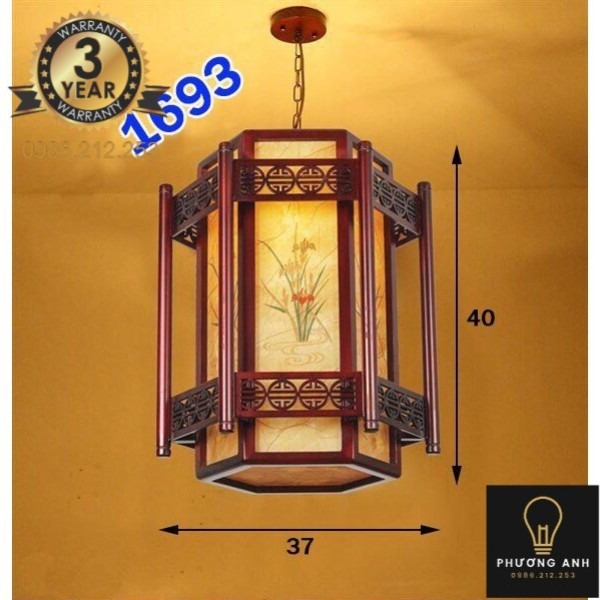 Đèn Lồng Gỗ Tự Nhiên mã 1693 Phù Hợp Trang Trí Không Gian Nhà Gỗ , Nhà Cổ, Phòng Thờ, Nhà Hàng - Đèn Phương Anh