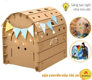 Đồ chơi trẻ em Nhà Bìa Carton Cho Bé Siêu Đẹp, Chắc Chắn - Nhà Đồ Chơi Lắp Ghép Thông Minh Cho Bé Dưới 6 Tuổi thumbnail