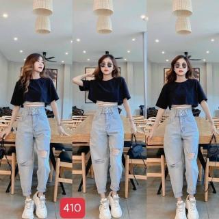 [HCM]Quần baggy nữ mẫu mới quần baggy jeans nữ lưng caoquần ống rộng trẻ trung thiết kế đơn giản cam kết hàng y hình chất lượng MINISHOP2K MN346 thumbnail