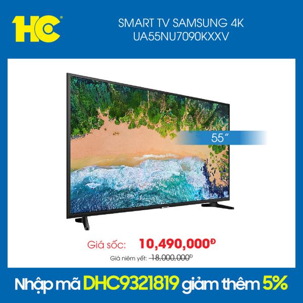 Smart Tivi Samsung 4K 55 inch UA55NU7090KXXV - Âm thanh vòm mạnh mẽ với công nghệ Dolby Digital Plus - Bảo hành 2 năm