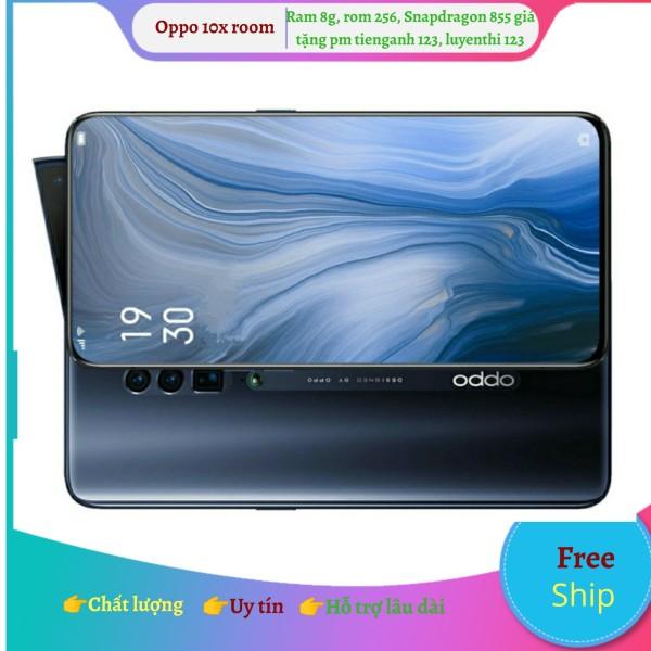 Điện thoại Oppo 10X Zoom ram 8, rom 256, Snapdragon 855, màn full 100%, cam đỉnh, hàng quốc tế 1 sim thị trường Úc
