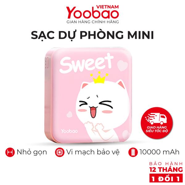 Sạc dự phòng mini 10000mAh Yoobao YB-6024 Trang bị đèn LED chiếu sáng - Hàng phân phối chính hãng - Bảo hành 12 tháng 1 đổi 1