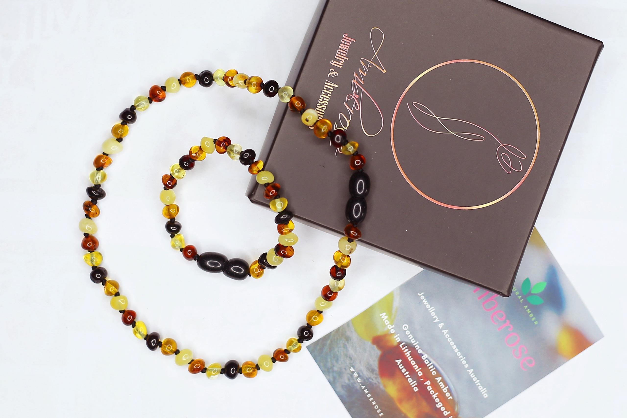Giá bán Bộ vòng amber Handmade cho bé 0-3 tuổi
