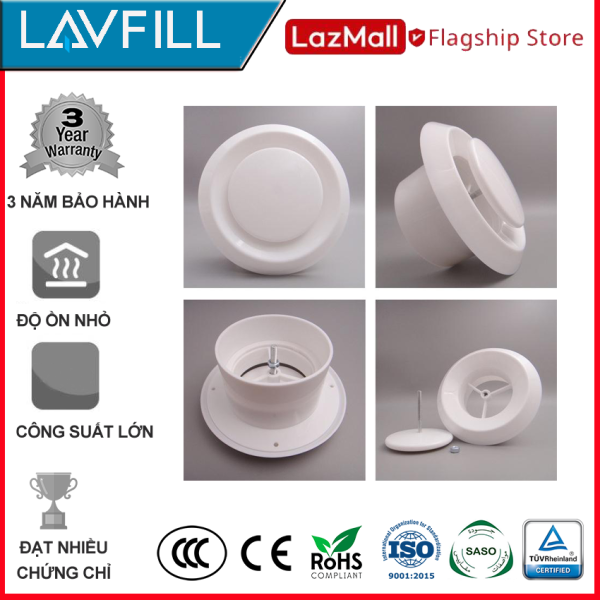 Nắp che đường ống, cửa gió ngăn côn trùng mặt phẳng LAVFILL LFVG-D (đủ kích thước)