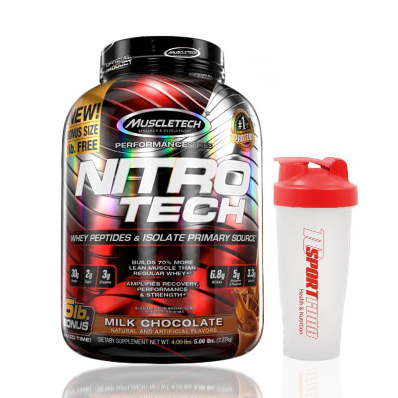 Thực phẩm bổ sung tăng cơ NITRO TECH 5lbs (2.27kg) cao cấp