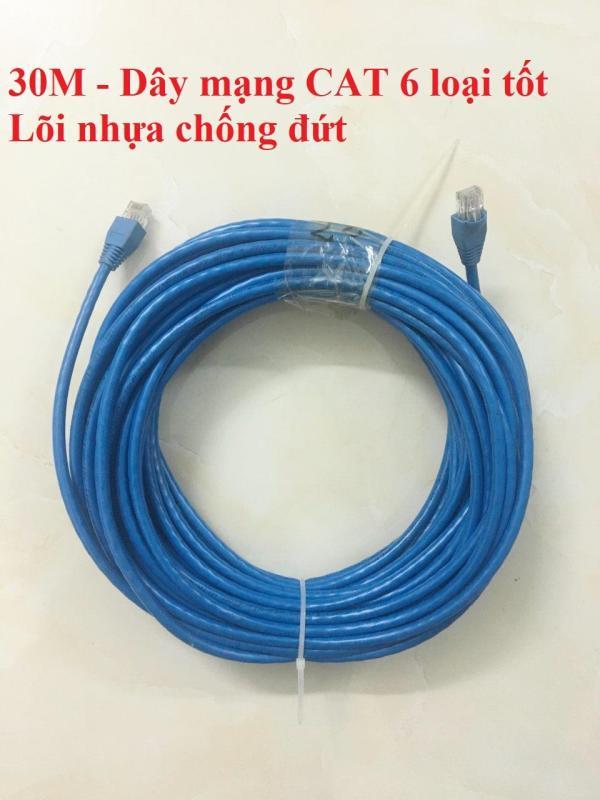 Bảng giá Dây mạng CAT 6 bấm sẵn 2 đầu 30m / 35m / 40m / 45m / 50m (Dây internet lõi nhựa chống đứt) Phong Vũ