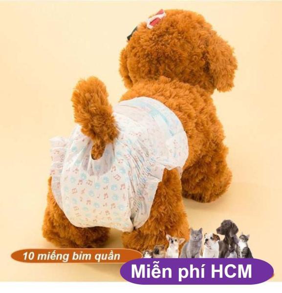 HCM-10 miếng Bỉm quần chó mèo từ 6-12kg loại siêu thấm / băng vệ sinh chó //chó có kinh nguyệt