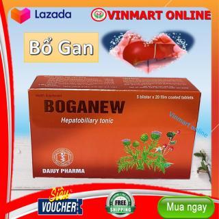 Viên Uông Bổ Gan Boganew - Giúp Thanh Nhiệt, Giải Độc , Mát Gan- Hộp 50 viên- HSD 2023 thumbnail