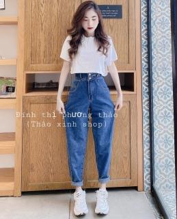 [HCM]Quần baggy jean quần bò chất vải cao cấp chất lượng thời trang trẻ trung lưng cao 1990STORE MS827 thumbnail