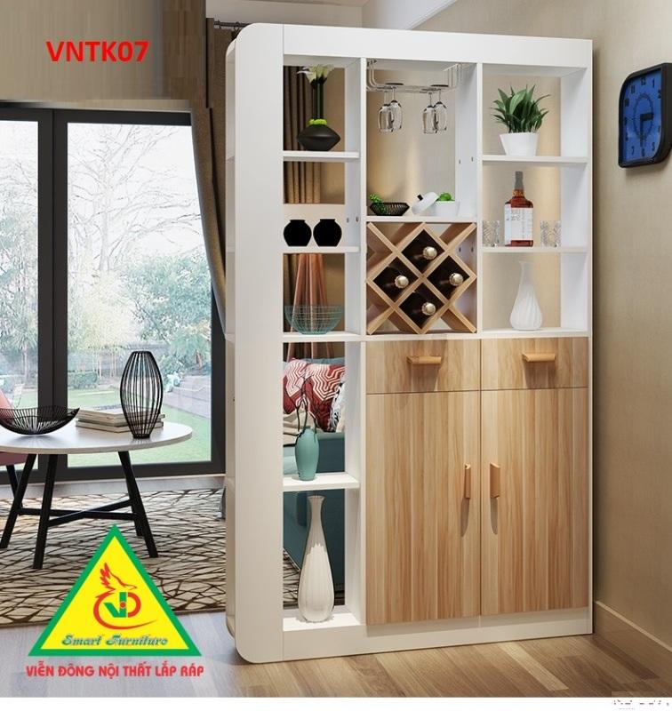 Tủ kệ trang trí kiêm vách ngăn phòng VNTK07 - Nội thất lắp ráp Viendong Adv