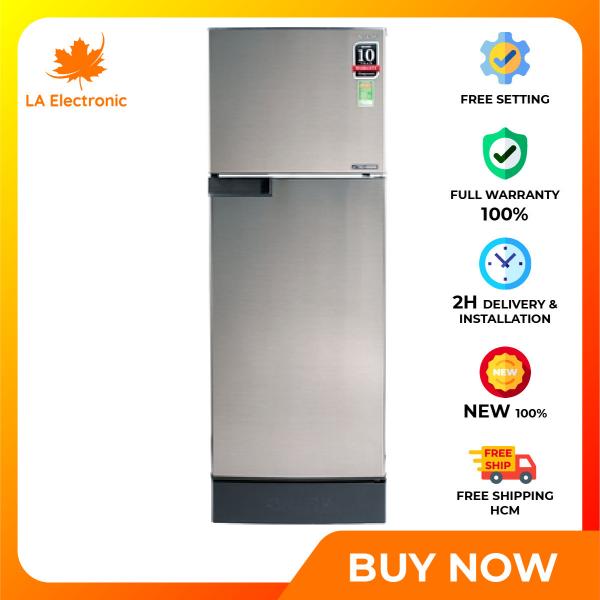 Trả Góp 0% - Tủ lạnh Sharp Inverter 180 lít SJ-X196E-SL - Miễn phí vận chuyển HCM