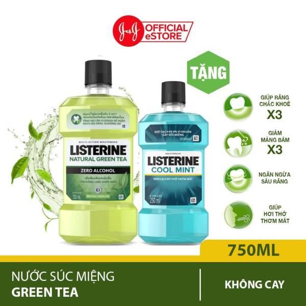 Nước súc miệng Listerine Trà Xanh Greentea Zero Không Cay 750ml Tặng Nước súc miệng Coolmint 250ml -101016577