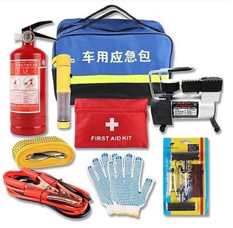 Bộ dụng cụ cứu hộ 9 món dành cho xe ô tô