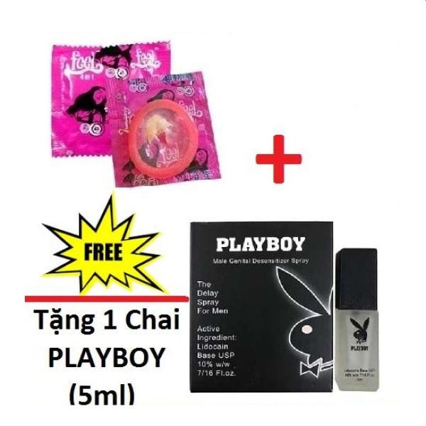 [Mua 1 Tặng 1] Bao cao su Feel 4in1(1Bcs).Tang 1Chai Xịt playboy Chống Xuất Tinh Sớm (5ml).