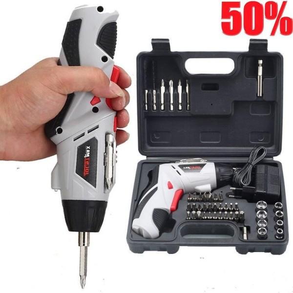 Bộ khoan pin cầm tay , máy bắn vít đa năng 45 chi tiết, khoan pin 45 đầu, máy khoan cầm tay
