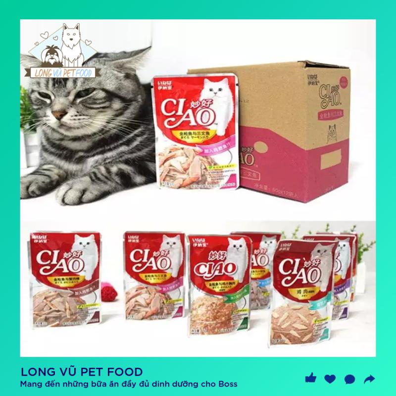 Thức ăn Pate cho mèo Inaba Ciao gói 60gr