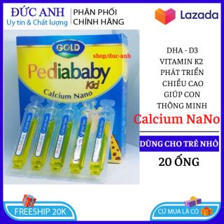[ HSD 2023 ] Canxi Pedia baby kid Calium nano Bổ sung canxi, vitamin D3, Vitamin K2 giúp phát triển xương, tăng chiều cao - Hộp 20 ống - Chuẩn GMP Bộ Y tế thumbnail