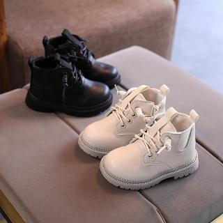 Giày Trẻ Em Bốt Da Thủy Triều Cho Bé Trai Bé Gái Bốt Martin Kiểu Anh Cho Bé Thời Trang 1-3-6 Tuổi