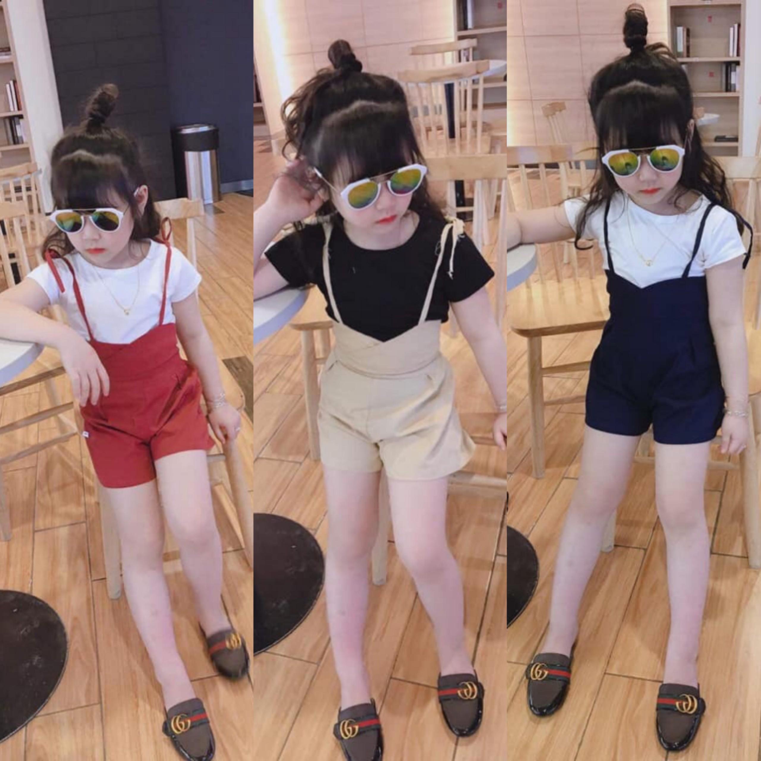 [ Kho buôn ]Hàng Quảng Châu xuất Hàn chuẩn xịn, set áo quần yếm cho bé gái, bộ đồ bé gái, váy đầm bé gái Nhật Bản