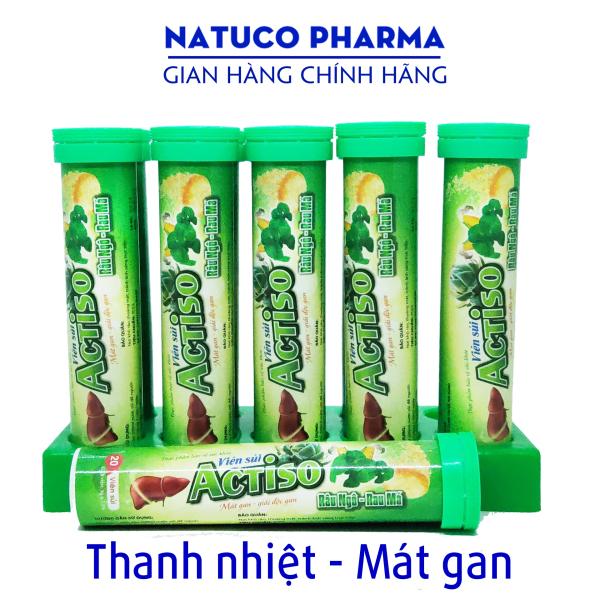 Combo 5 tuýp sủi mát gan - ACTISO Râu Ngô Rau Má - Tuýp 20 viên - Thanh nhiệt mát gan, giải độc gan hiệu quả