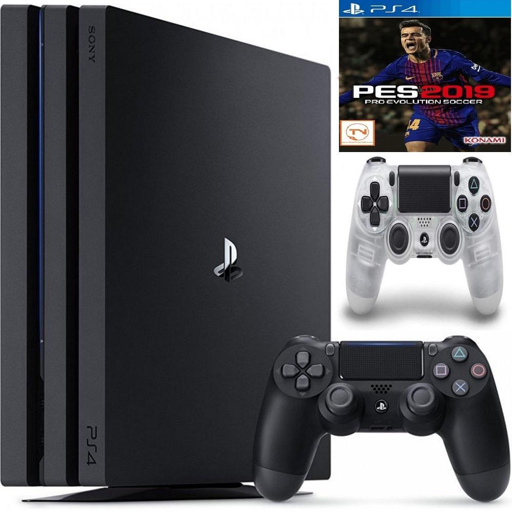 Hình ảnh Combo PS4 Pro 1TB [Bảo Hành 1 Năm] + 2 Tay Cầm + Pes 2019