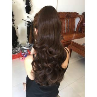 tóc giả giá rẻ đẹp 🎁 FREESHIP 🎁 Tóc giả ngoặm xoăn phồng- mã m045- tơ cao cấp