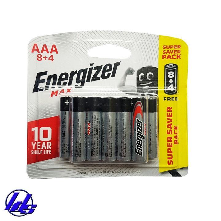 Pin AAA Energizer E92-BP12 Max Power Seal - Vỉ 12 viên