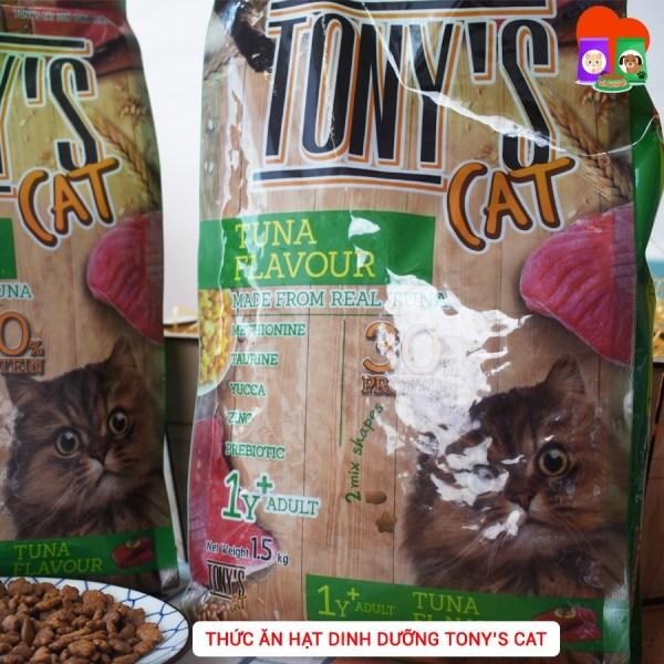 THỨC ĂN HẠT DINH DƯỠNG TONYs CAT CHO MÈO 500G VÀ 1,5KG