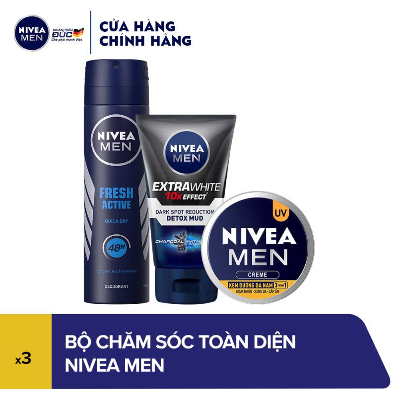 Bộ 3 chăm sóc cơ thể toàn diện NIVEA MEN (81600 + 81775 + 83923) giá rẻ