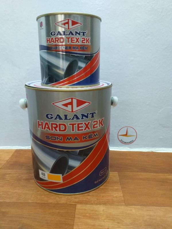 Sơn sắt mạ kẽm không cần lót Galant Hard Tex 2K 3.75L