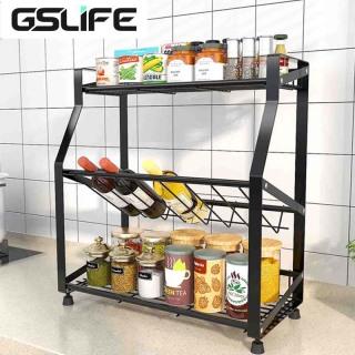 GSlife Kệ Gia Vị 3 Tầng kệ nhà bếp đa năng kệ đựng gia vị kệ để đồ Sắp Xếp Gọn Gàng Gia Vị Phòng Bếp Cao Cấp Phiên tiết kiệm không gian nhà bếp thumbnail