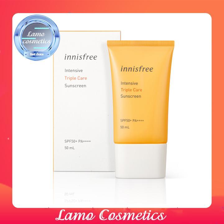 Kem Chống Nắng Innisfree Perfect UV Protection Cream Triple Care SPF 50 PA+++ Date 2022 Chính Hãng 100%