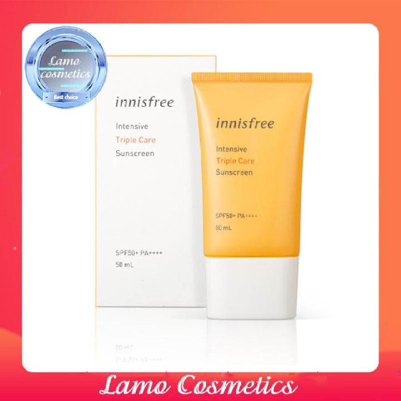 Kem Chống Nắng Innisfree Perfect UV Protection Cream Triple Care SPF 50 PA+++ Date 2022 Chính Hãng 100% nhập khẩu